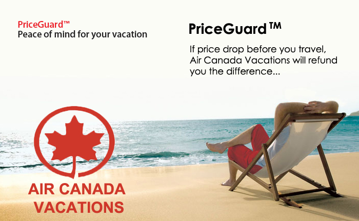 Air Canada Vacations Price Guard