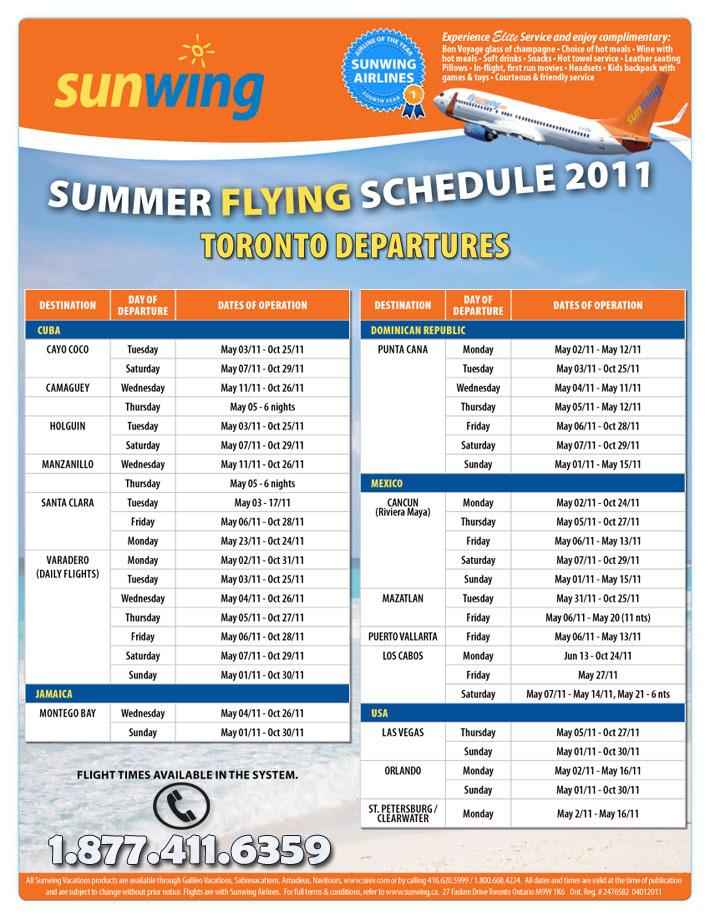 Sunwing Vacations Peak Summer Europe Flights All