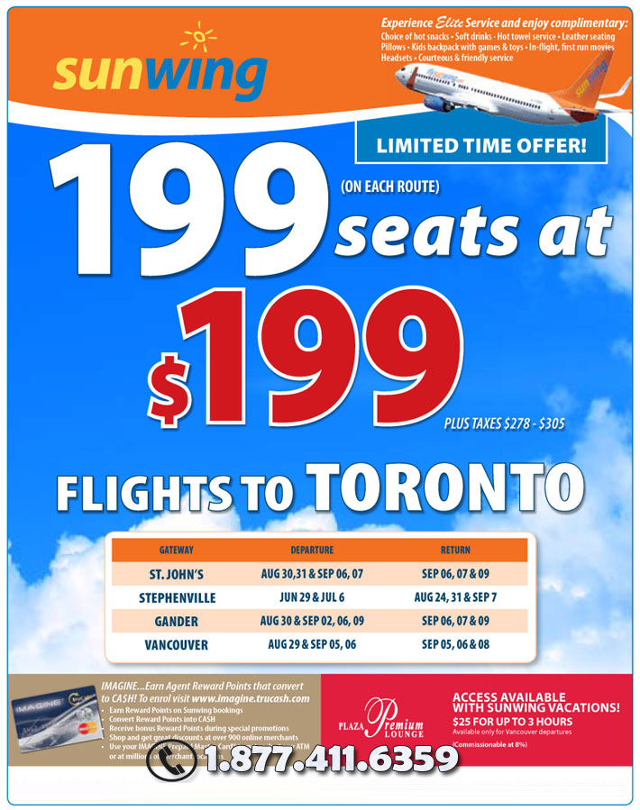 Sunwing Vacations Specials - Cheap Canada Flight Deals