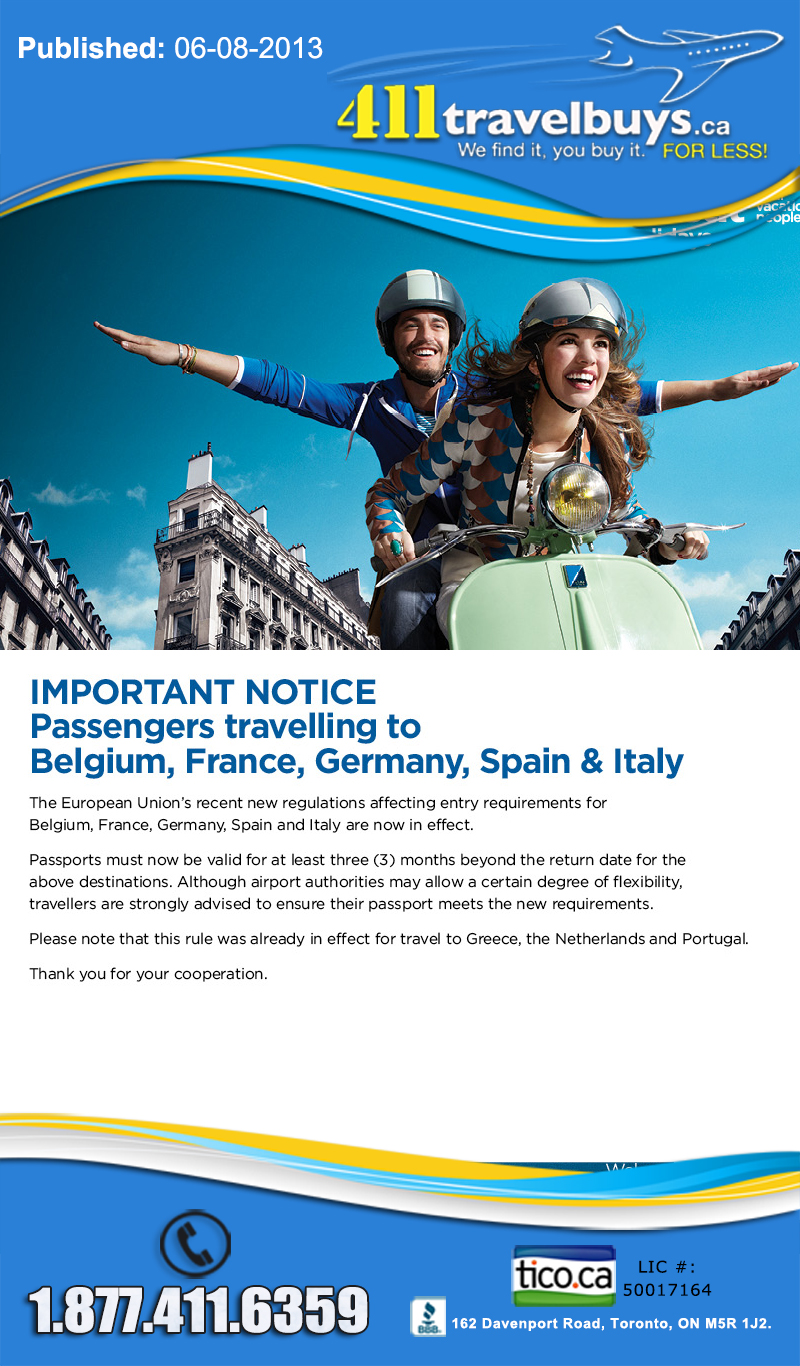 Europe Passport Entry Requirements – Effective July 19
