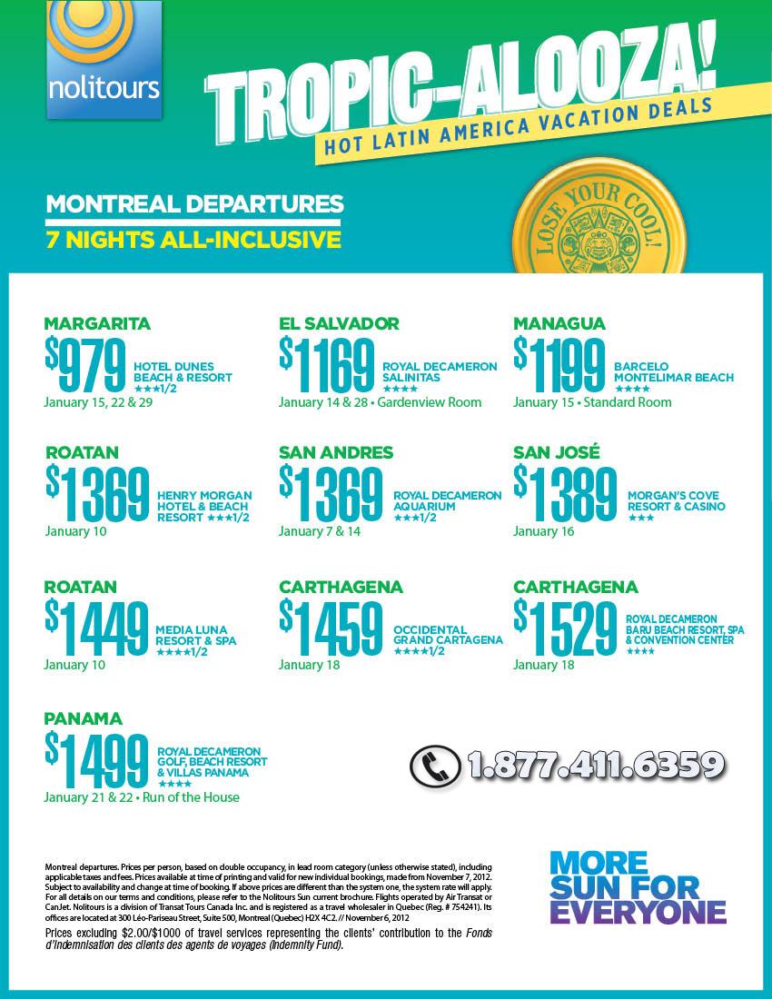 Montreal Departures