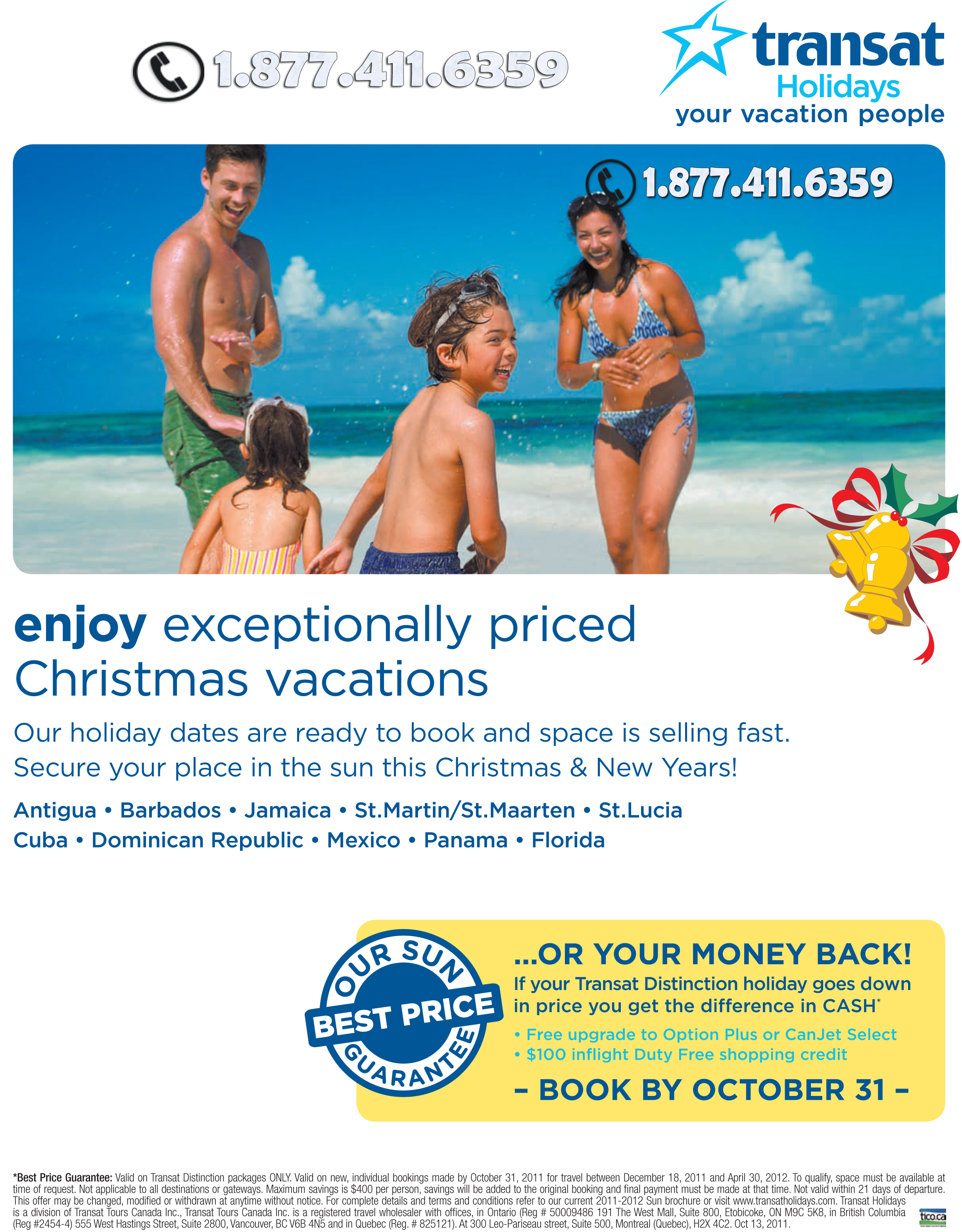Transat Holidays Christmas Deals