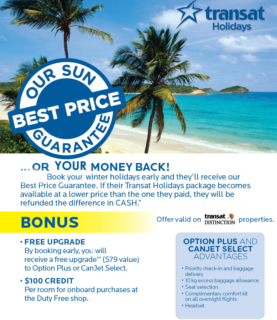 Transat Holidays Best price Guarantee