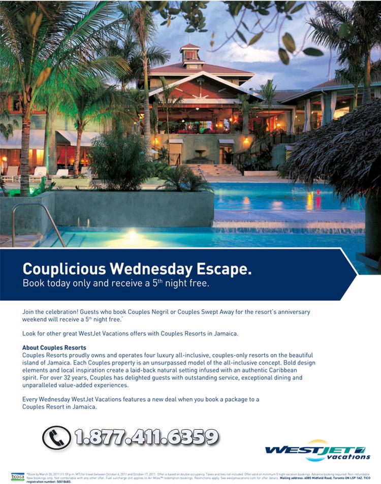 Couplicious Wednesday Escape Deals