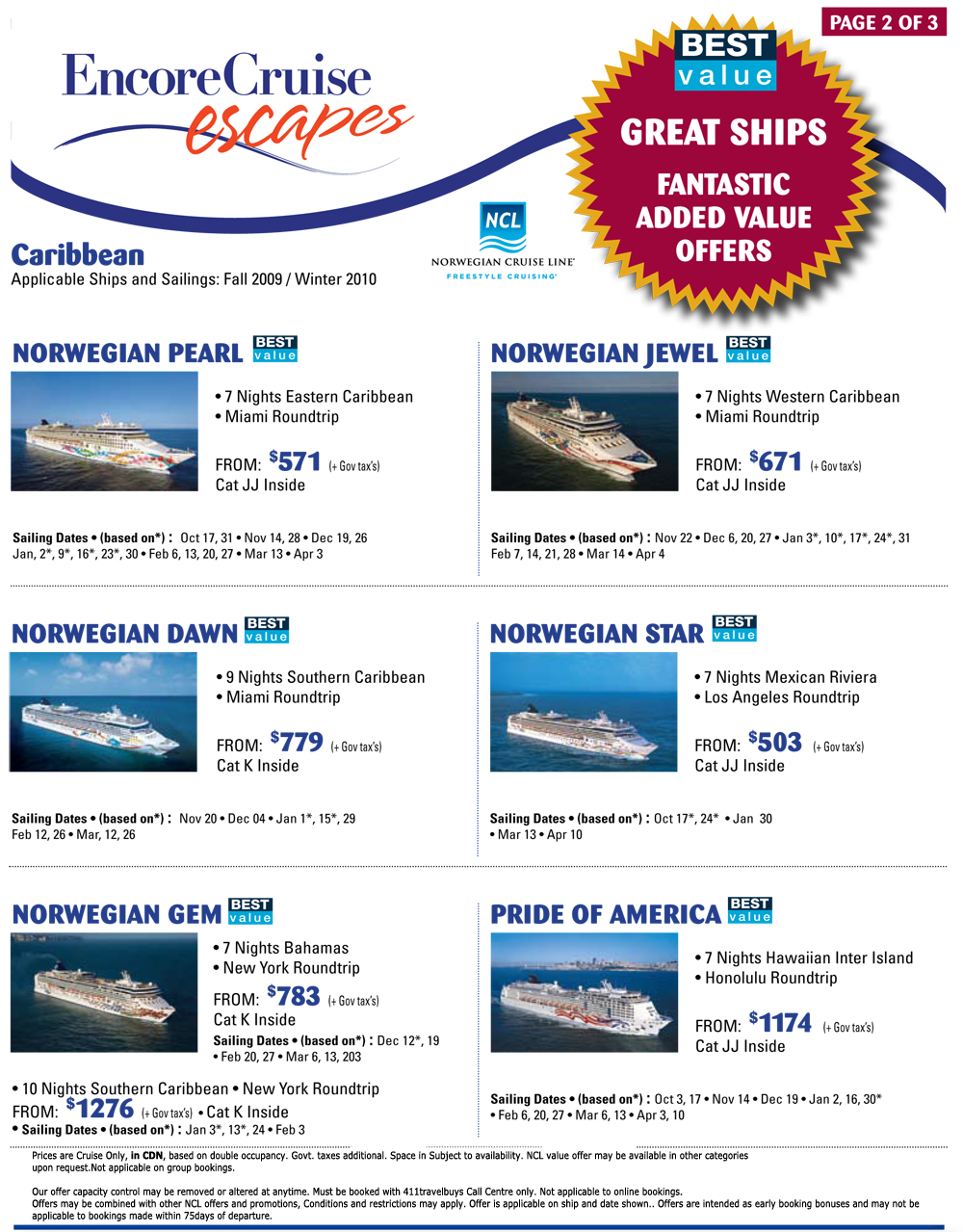 Cruceros con descuentos de lujo