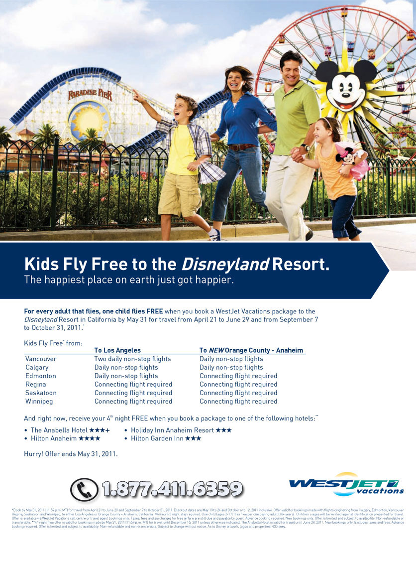 Kids Fly Free to Disney Deals