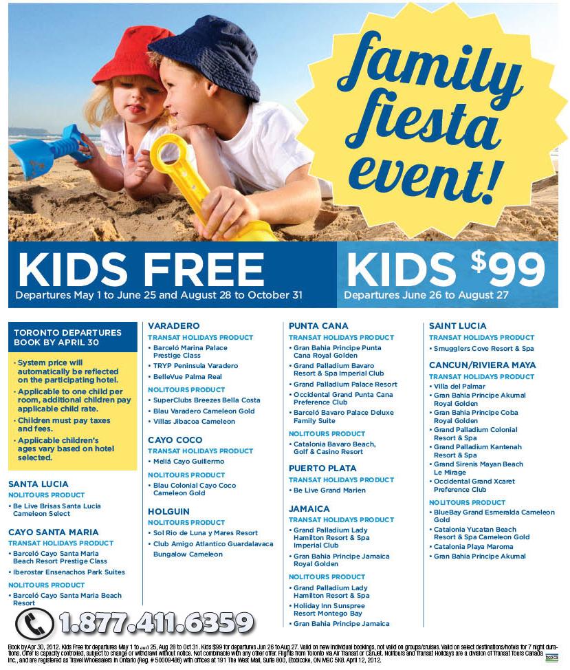 Kids Promo - Toronto & Halifax Departures
