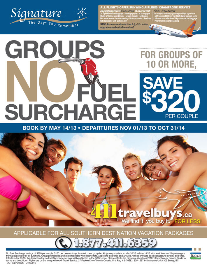 Signature Vacations Group Deals