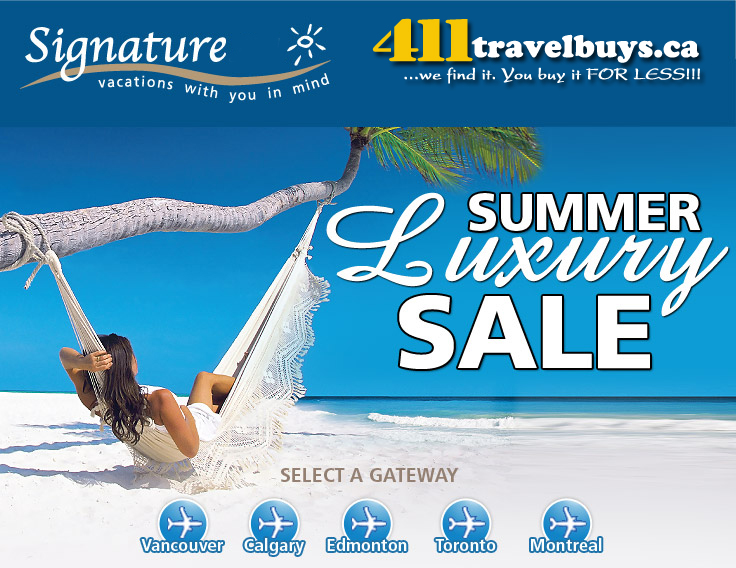 Signature Vacations Summer Luxury Deals