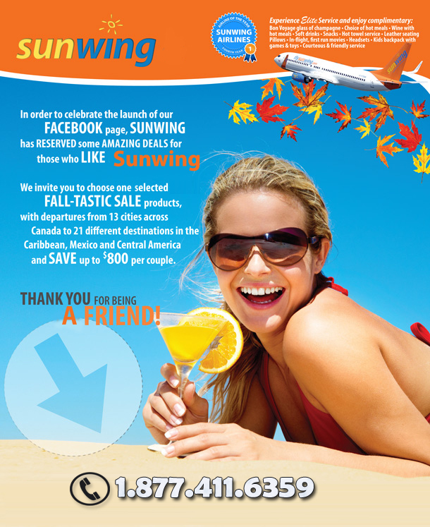 Sunwing Specials - Fall-tastic facebook deals to Dream Destinations