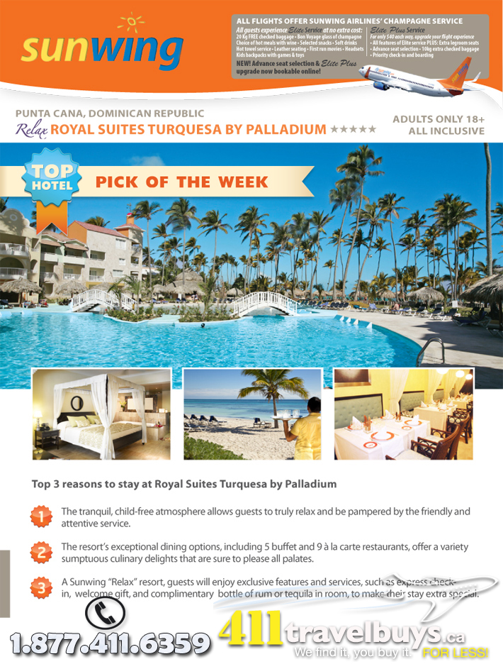 Sunwing Top Hotel Pick of the week to Dream Destinations