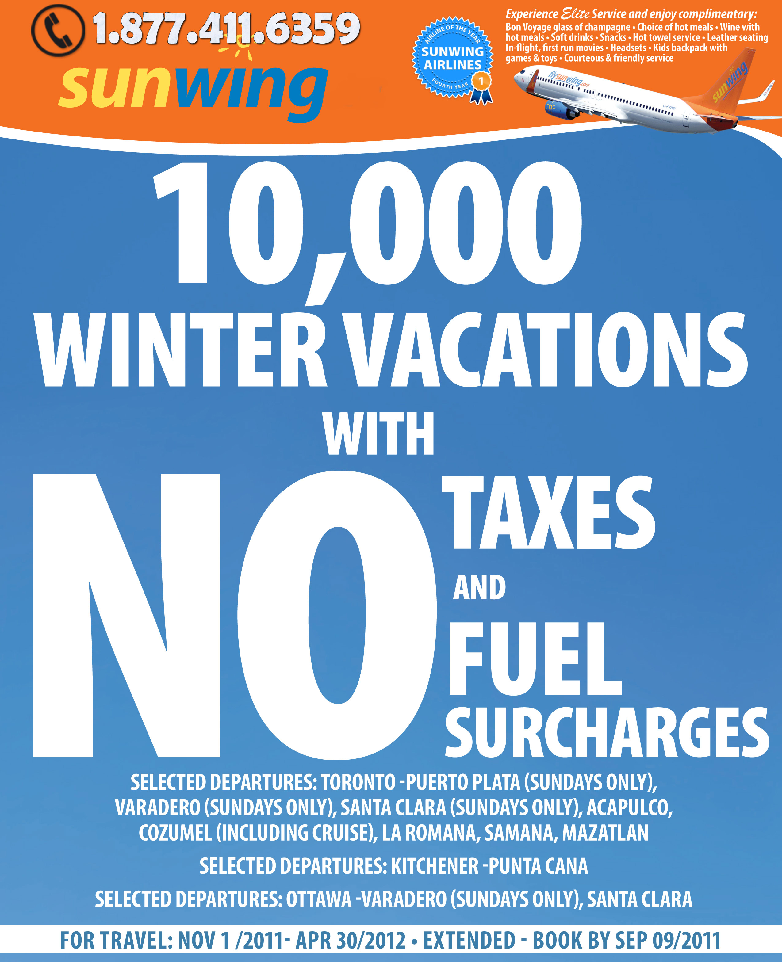 Sunwing Specials - Winter Vacation deals to Dream Destinations