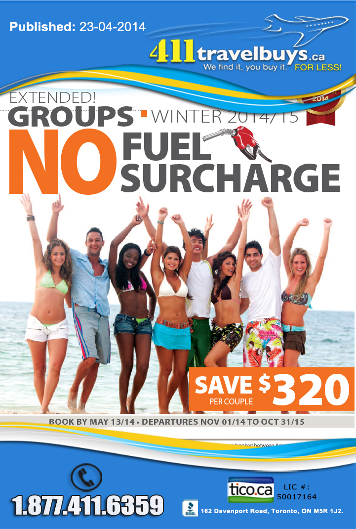 Sunwing Vacations Specials - Groups Deals - No Fuel Surcharge