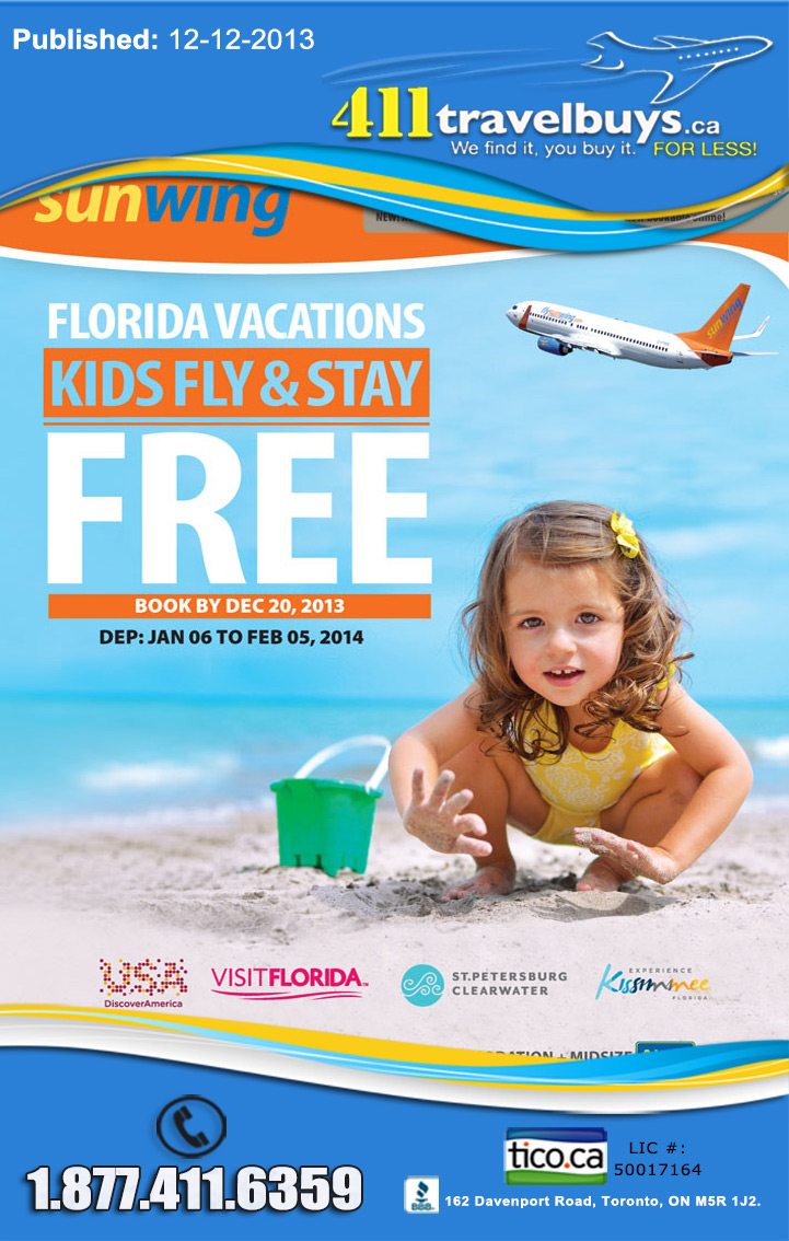 Sunwing Kids FREE Deals