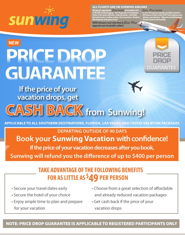 Sunwing Price Protection