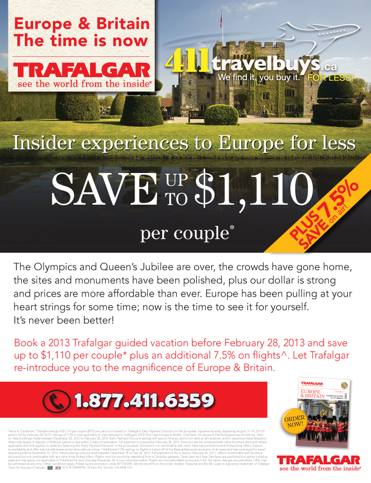 Trafalgar Europe For less Sale